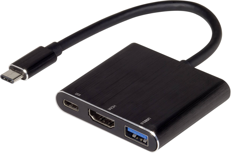 USB / HDMI adaptér Renkforce rf-USBV-01, čierna