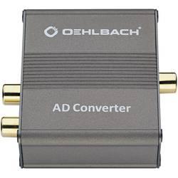 Audio konvertor cinch zásuvka ⇔ Toslink zásuvka (ODT), cinch zásuvka Oehlbach AD Bridge 6076