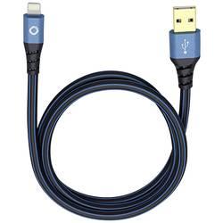 IPad/iPhone/iPod datový kabel/nabíjecí kabel Oehlbach 9320, 25.00 cm, modrá, černá
