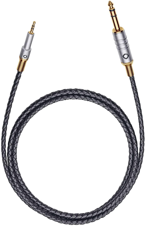Jack audio prepojovací kábel Oehlbach 35505, 3 m, čierna