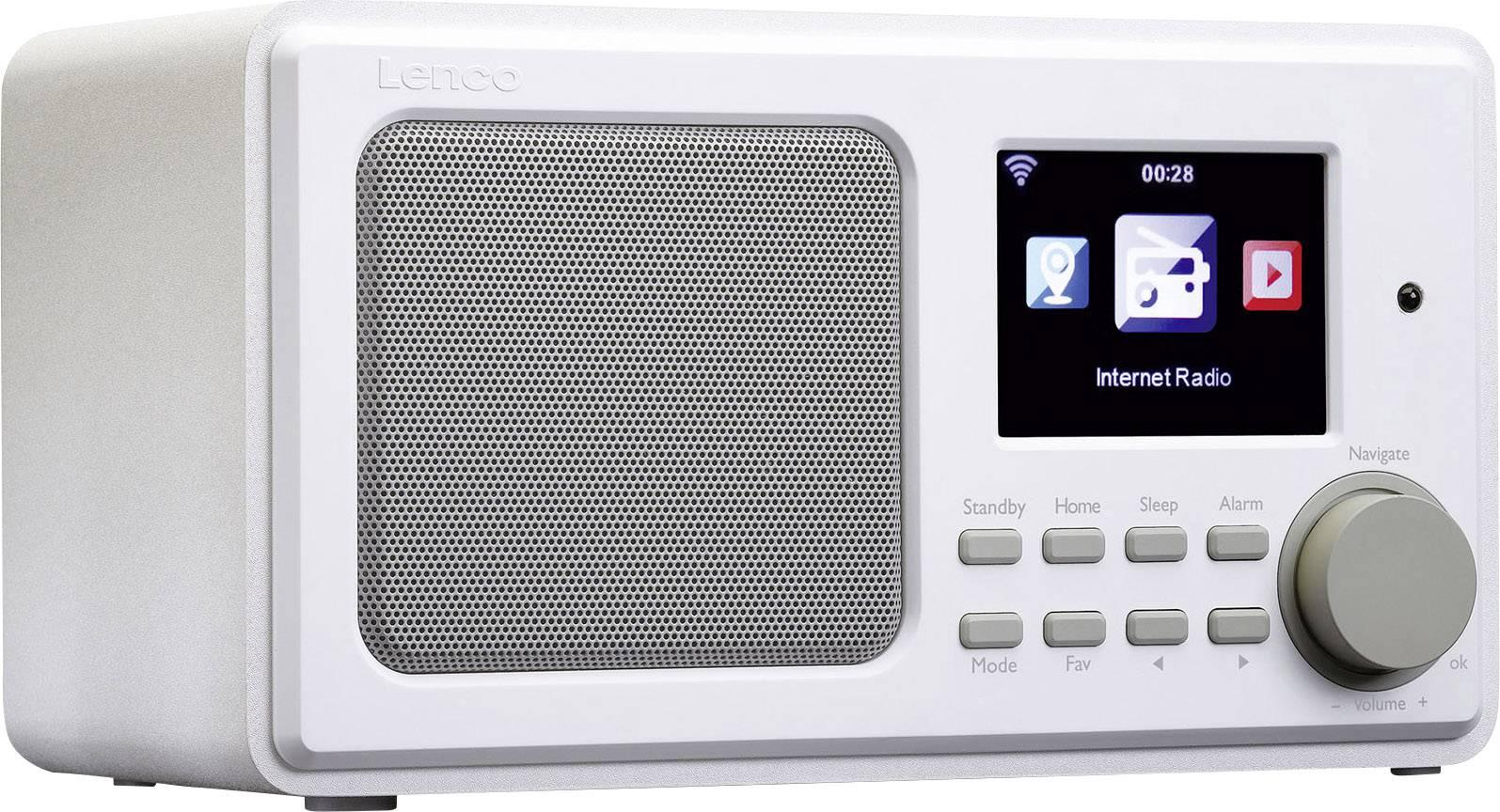 Internetové stolné rádio Lenco DIR-100, Wi-Fi, biela