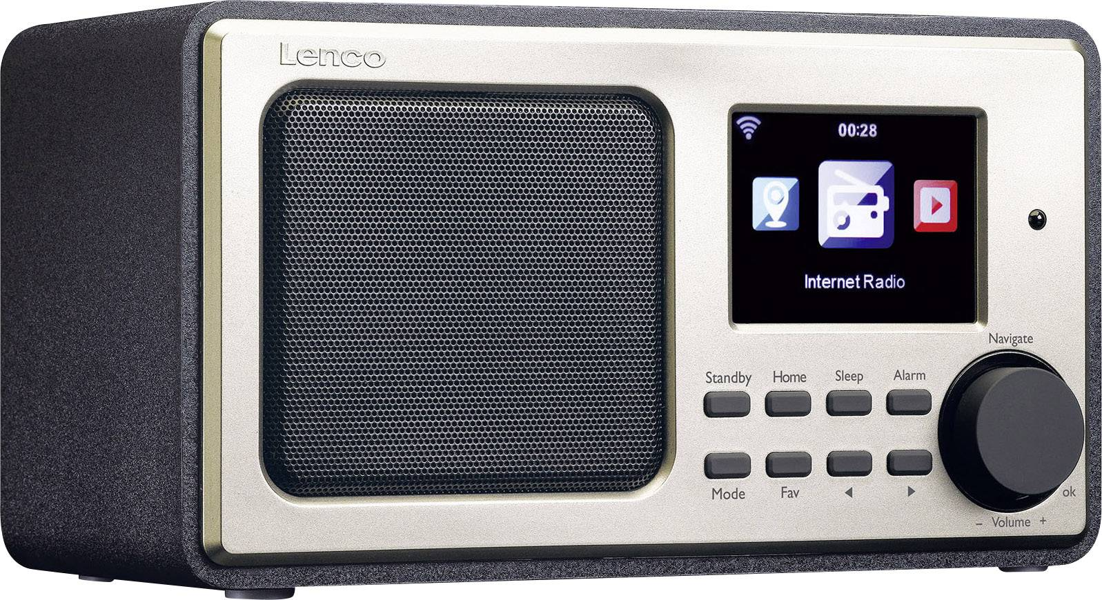 Internetové stolné rádio Lenco DIR-101, Wi-Fi, čierna