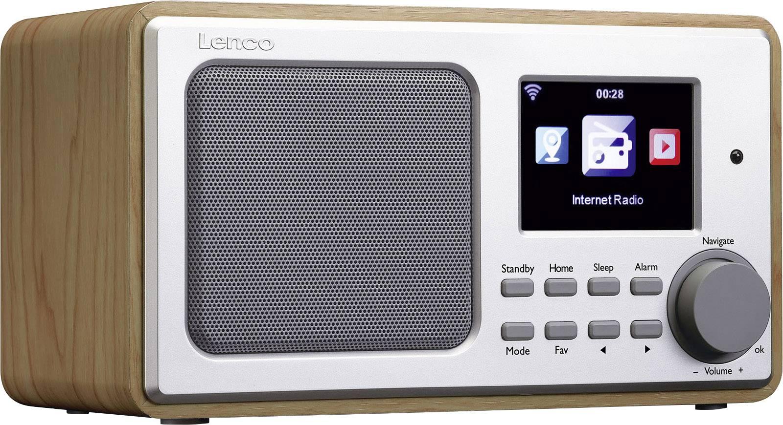 Internetové stolné rádio Lenco DIR-102, Wi-Fi, drevo