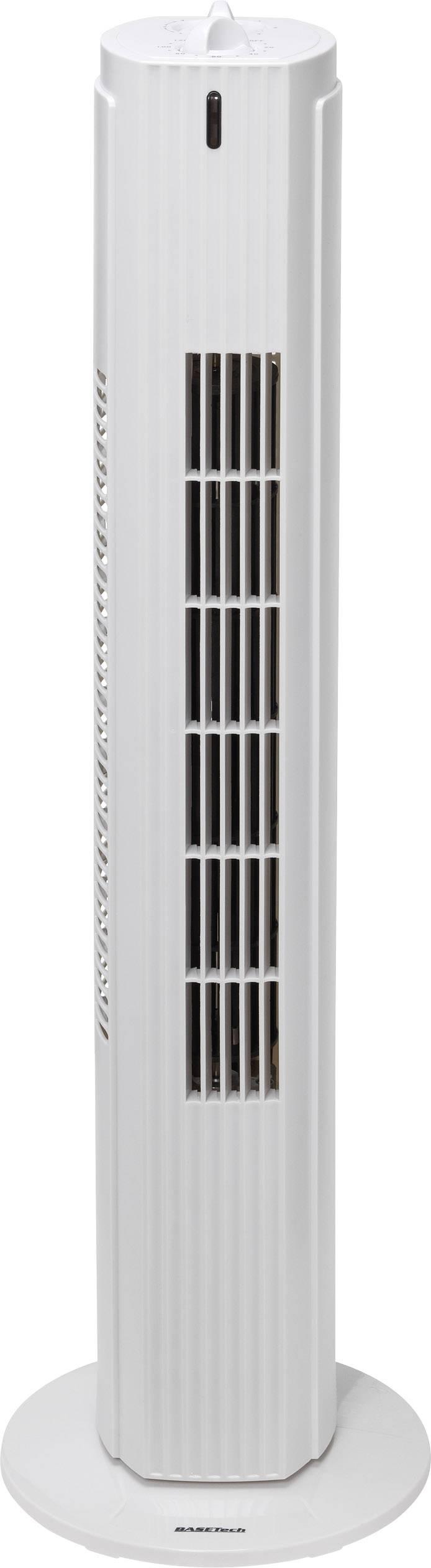 Vežový ventilátor Basetech VE-5985, 35 W, Vonkajší Ø 22 cm, 79 cm, biela