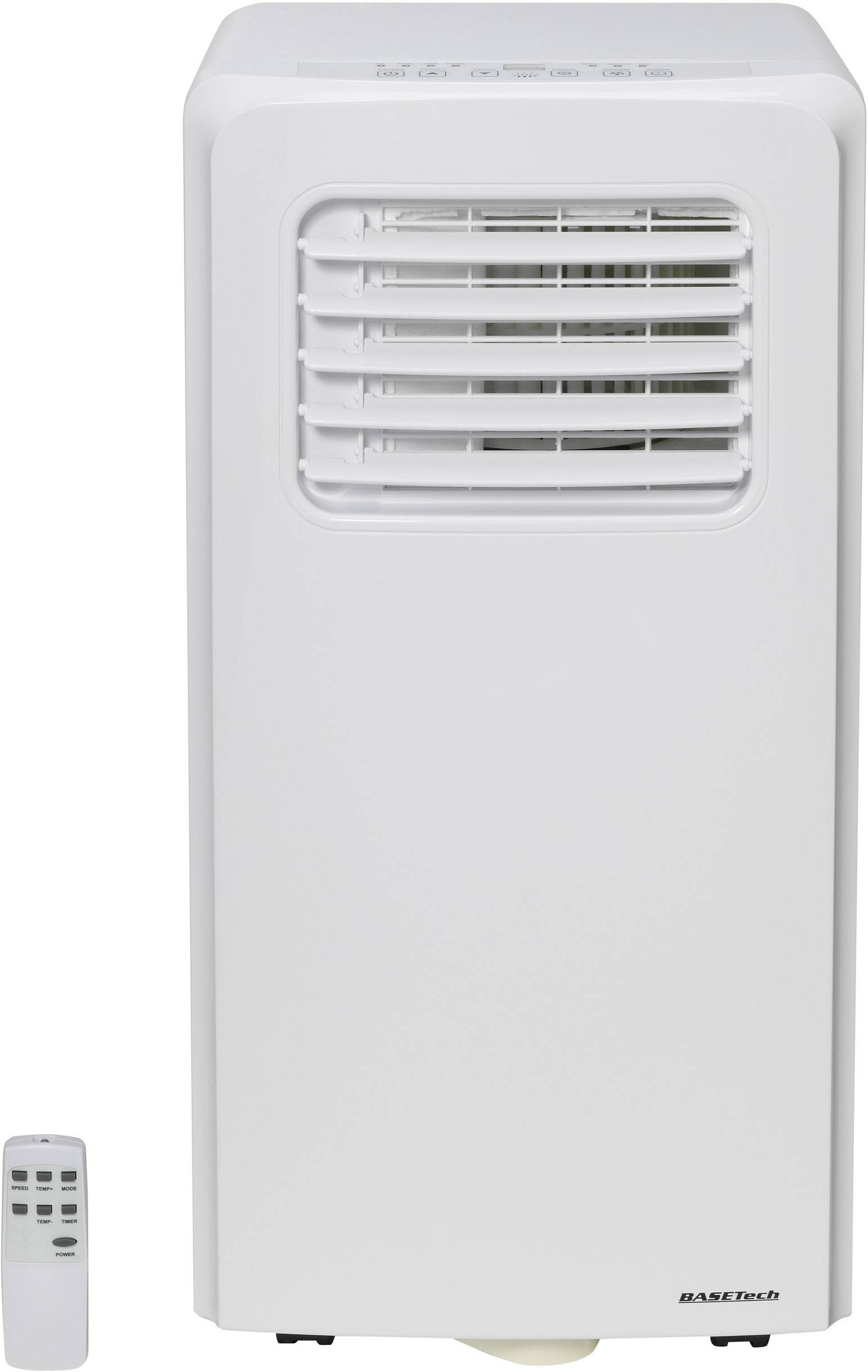 Prenosná klimatizácia s diaľk.ovládačom Basetech 2050 W (7000 Btu/h), en.trieda: A, 22 m², biela