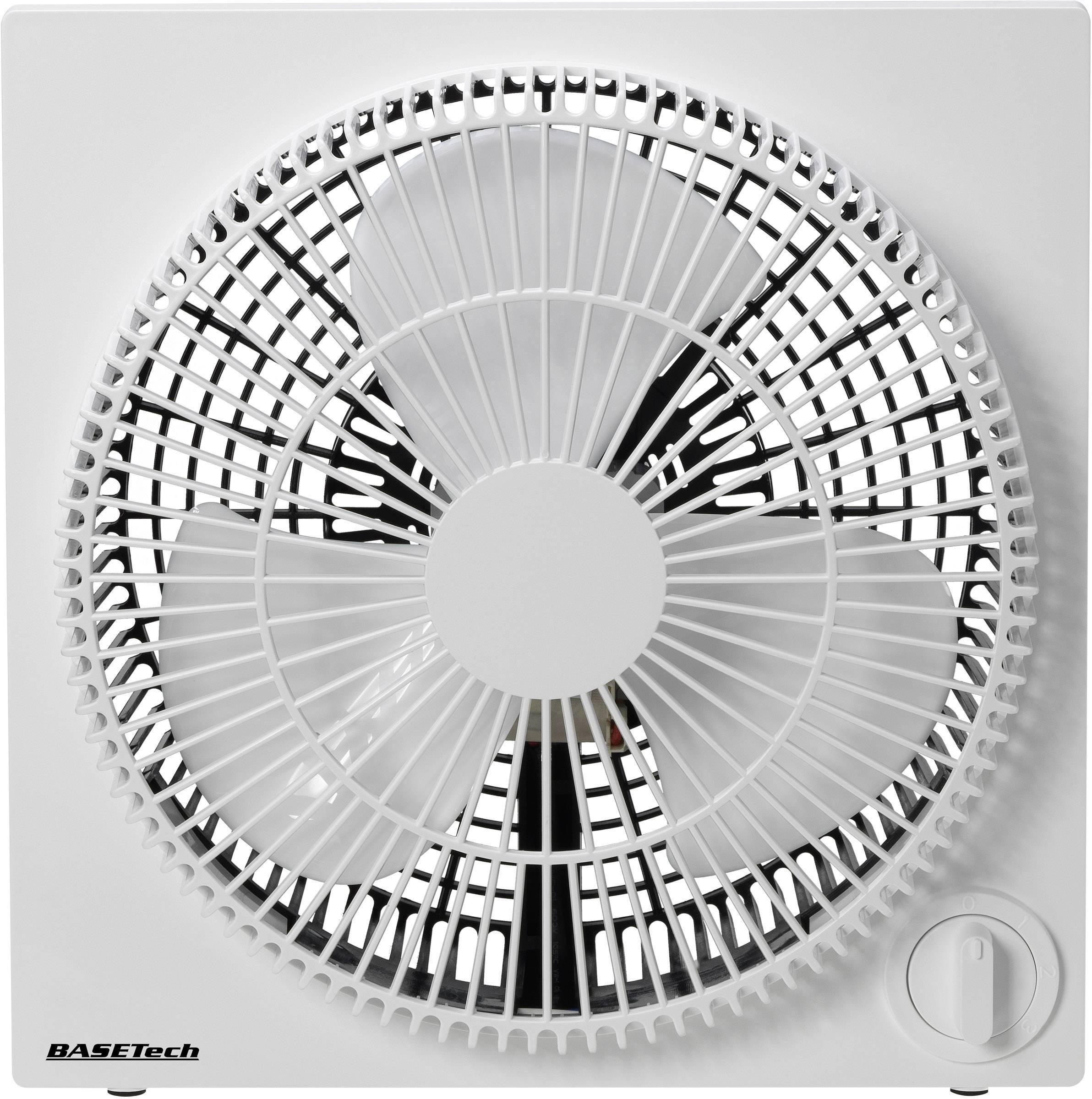 Stolní ventilátor Basetech VE-5925PR, 34 W, bílá, černá