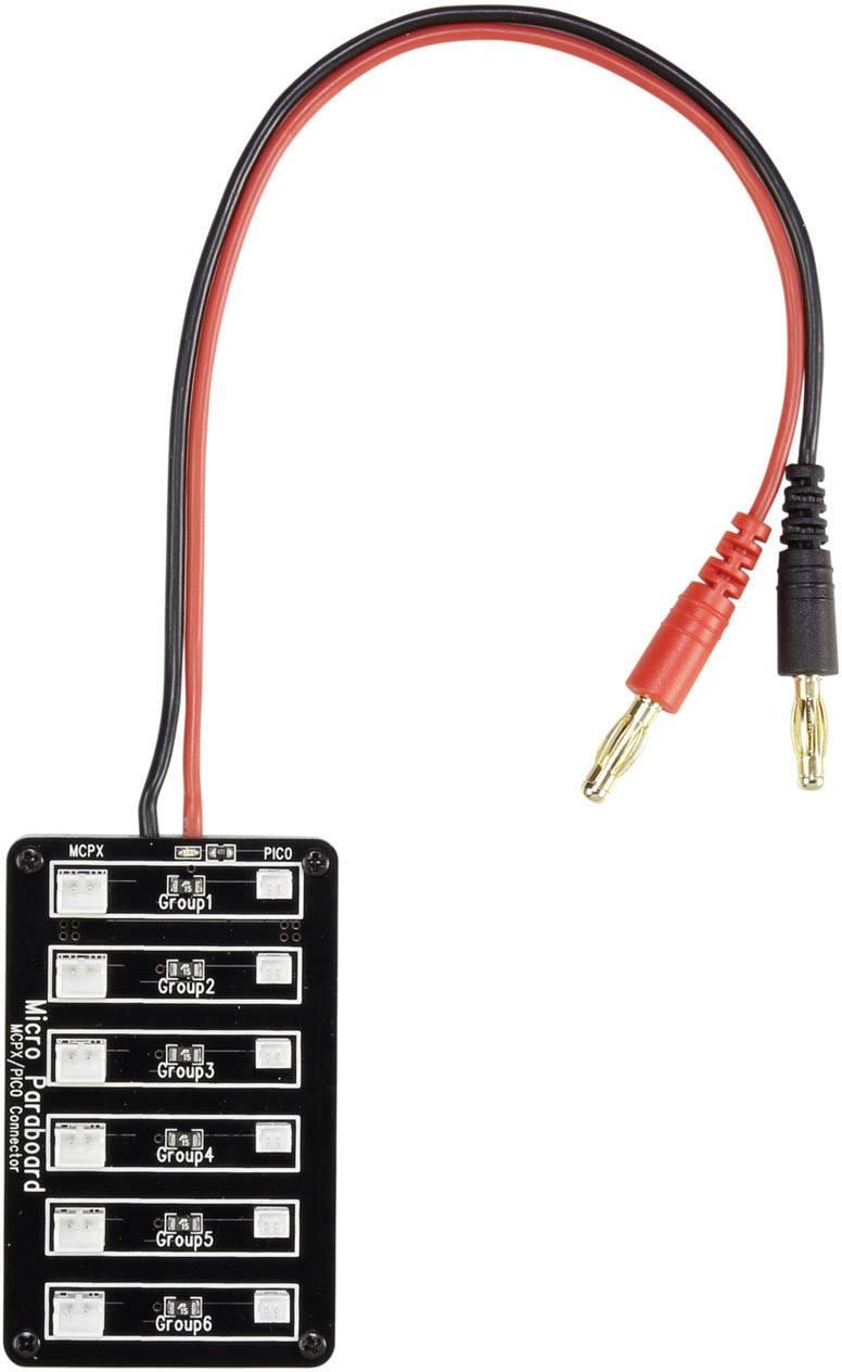 Nabíjecí deska VOLTCRAFT s 6 konektory Micro JST a JST a s pojistkou