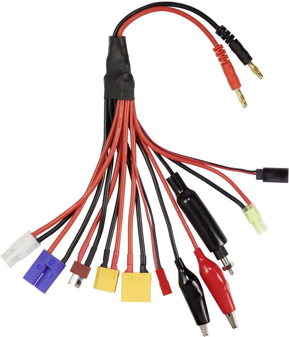 Nabíjecí kabel VOLTCRAFT QS-MCW0922, [1x T zástrčka - 2x banánková zástrčka], 250 mm