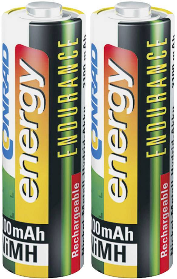 Tužkový akumulátor typu AA NiMH Conrad energy Endurance HR06 1517199, 2600 mAh, 1.2 V, 2 ks