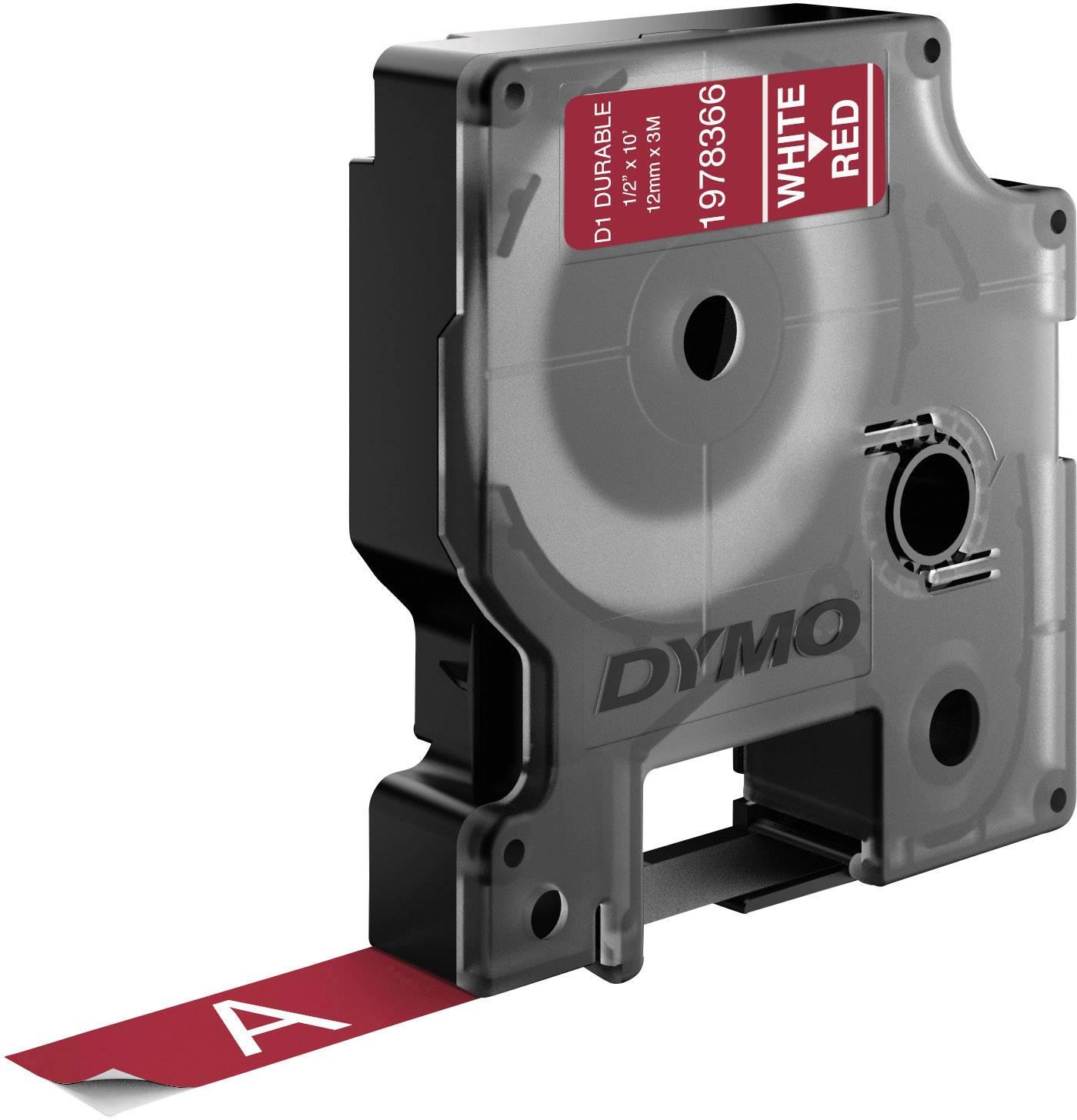 Páska do štítkovače DYMO 1978366, 12 mm, 3 m, bílá, červená