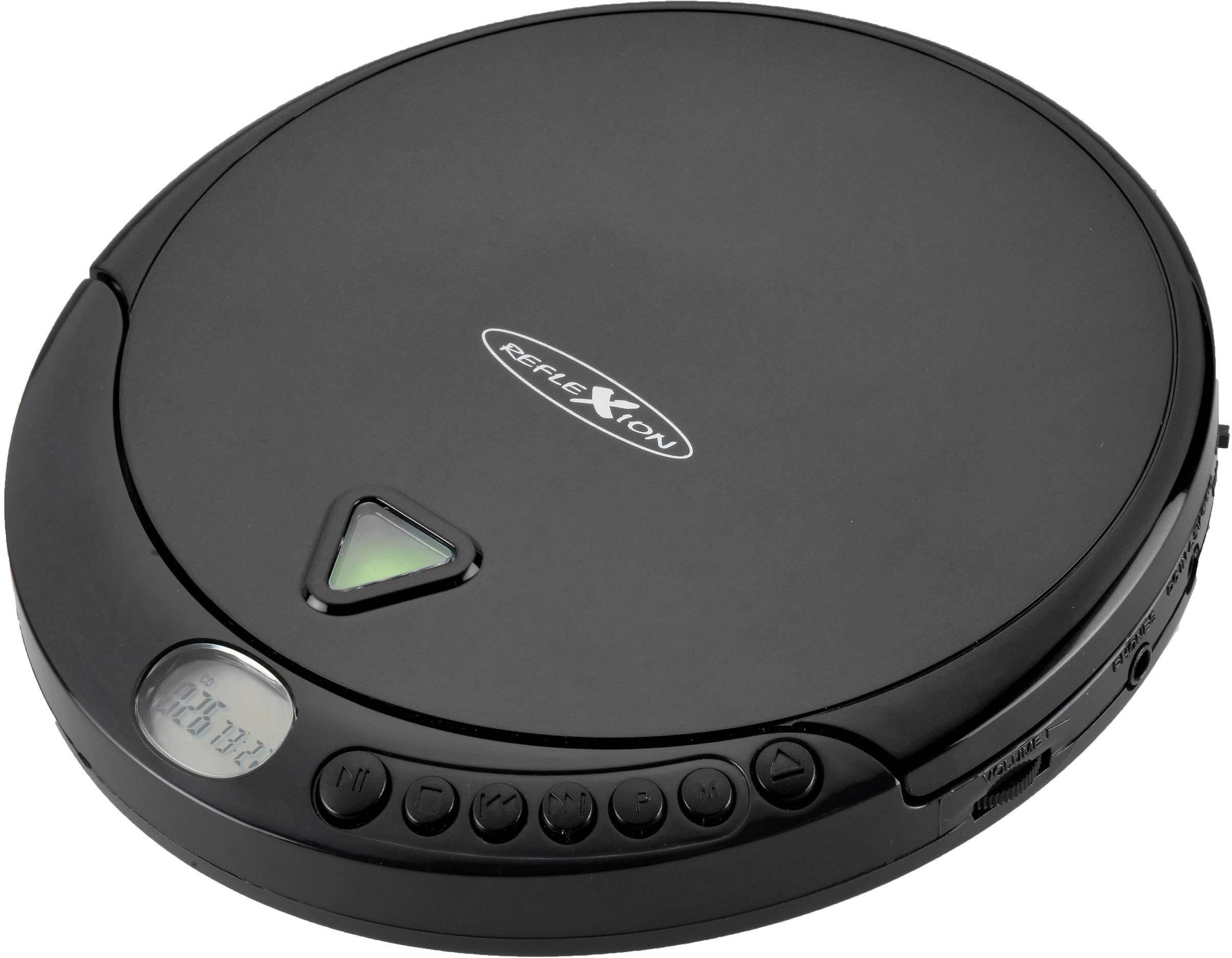 Přenosný CD přehrávač Discman s FM rádiem Reflexion PCD510MF, CD, CD-R, CD-RW, MP3, černá