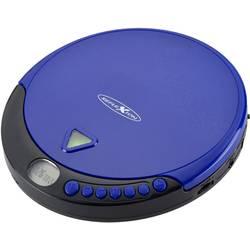 Prenosný CD prehrávač - diskman s FM rádiom Reflexion PCD510MF, CD, CD-R, CD-RW, MP3, modrá