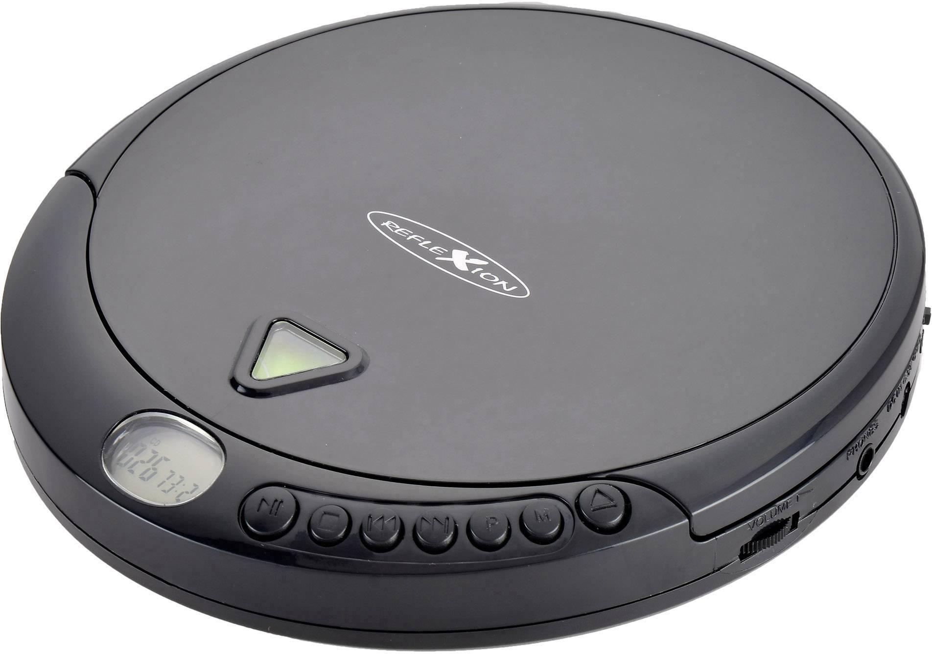 Discman - přenosný CD přehrávač Reflexion PCD500MP, CD, CD-R, CD-RW, MP3, černá