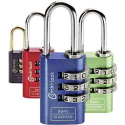 Visací zámek na heslo Burg Wächter 2er Set Duo 88 20 F SB, modrá, zelená, červená, černá