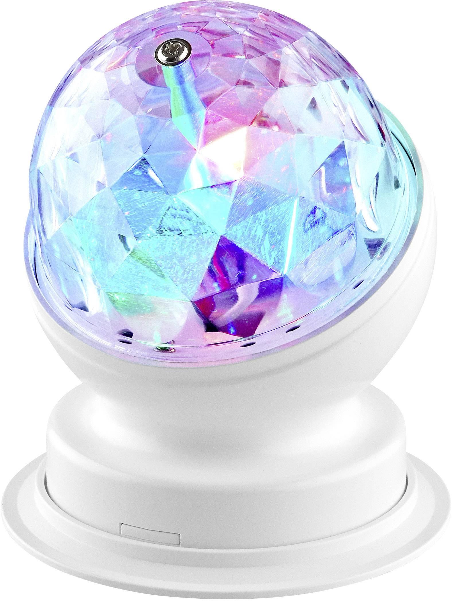 RGB LED párty koule na stojanu Renkforce 3 W, červená, zelená, modrá