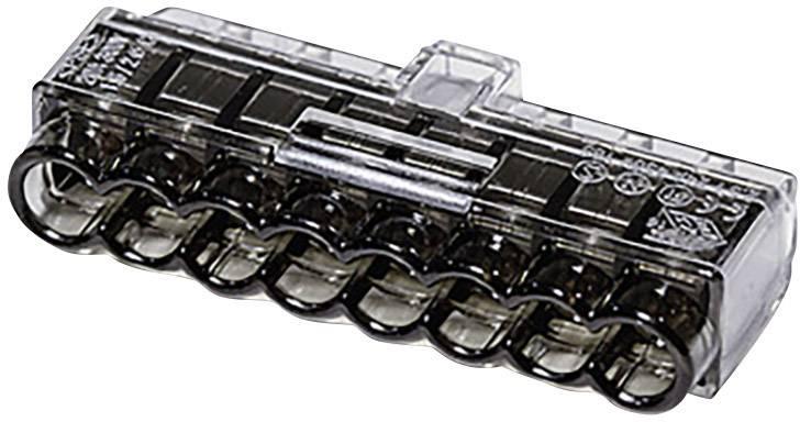 Krabicová svorkovnica HellermannTyton HCPM-8 148-90041 na kábel s rozmerom 1-2.5 mm², tuhosť 0.5-2.5 mm², počet pinov 8, 1 ks, čierna