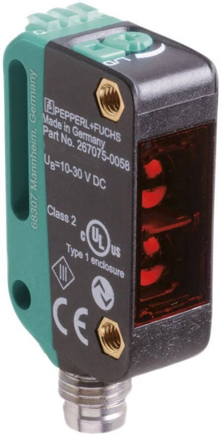Reflexní světelný snímač Pepperl & Fuchs OBT350-R100-2EP-IO-V31-1T