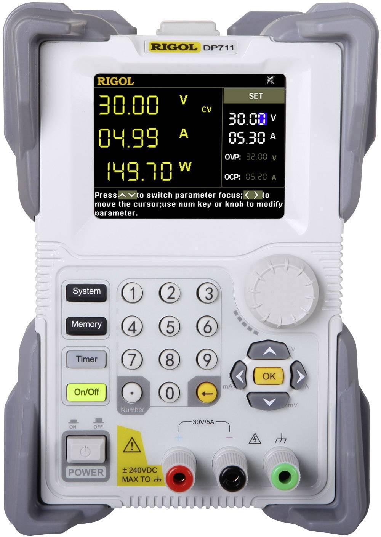 Laboratórny zdroj s nastaviteľným napätím Rigol DP711, 0 - 30 V, 0 - 5 A, 150 W