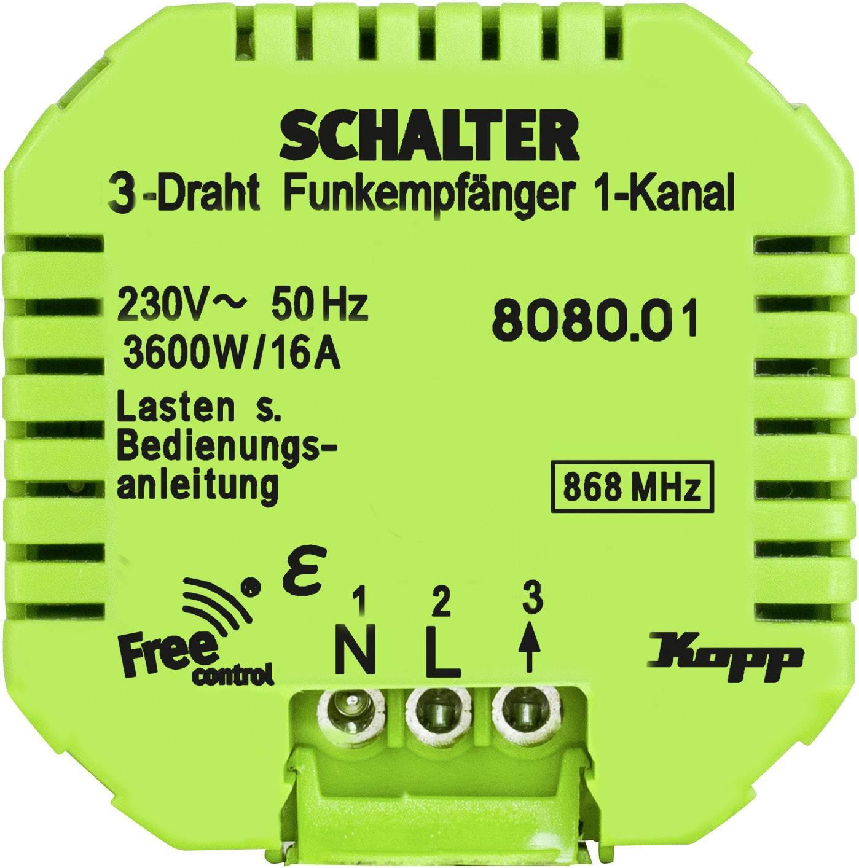 Bezdrôtový prijímač Kopp Free Control 808001223, 1-kanálový