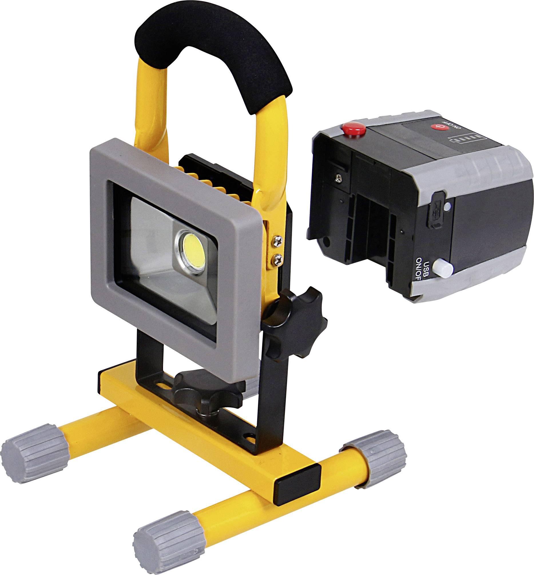 COB LED pracovné osvetlenie Shada 300170 10 W, napájanie z akumulátora