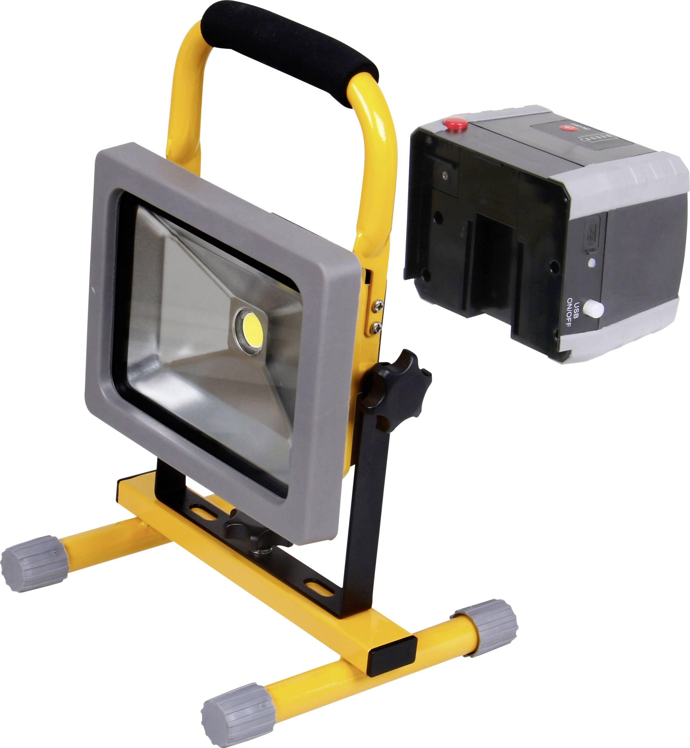 COB LED pracovné osvetlenie Shada 300171 20 W, napájanie z akumulátora