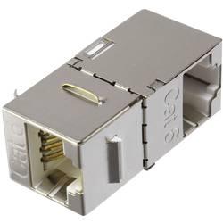 RJ45 sieťový adaptér Renkforce RF-4554648 CAT 6, [1x RJ45 zásvuka - 1x RJ45 zásvuka], kov