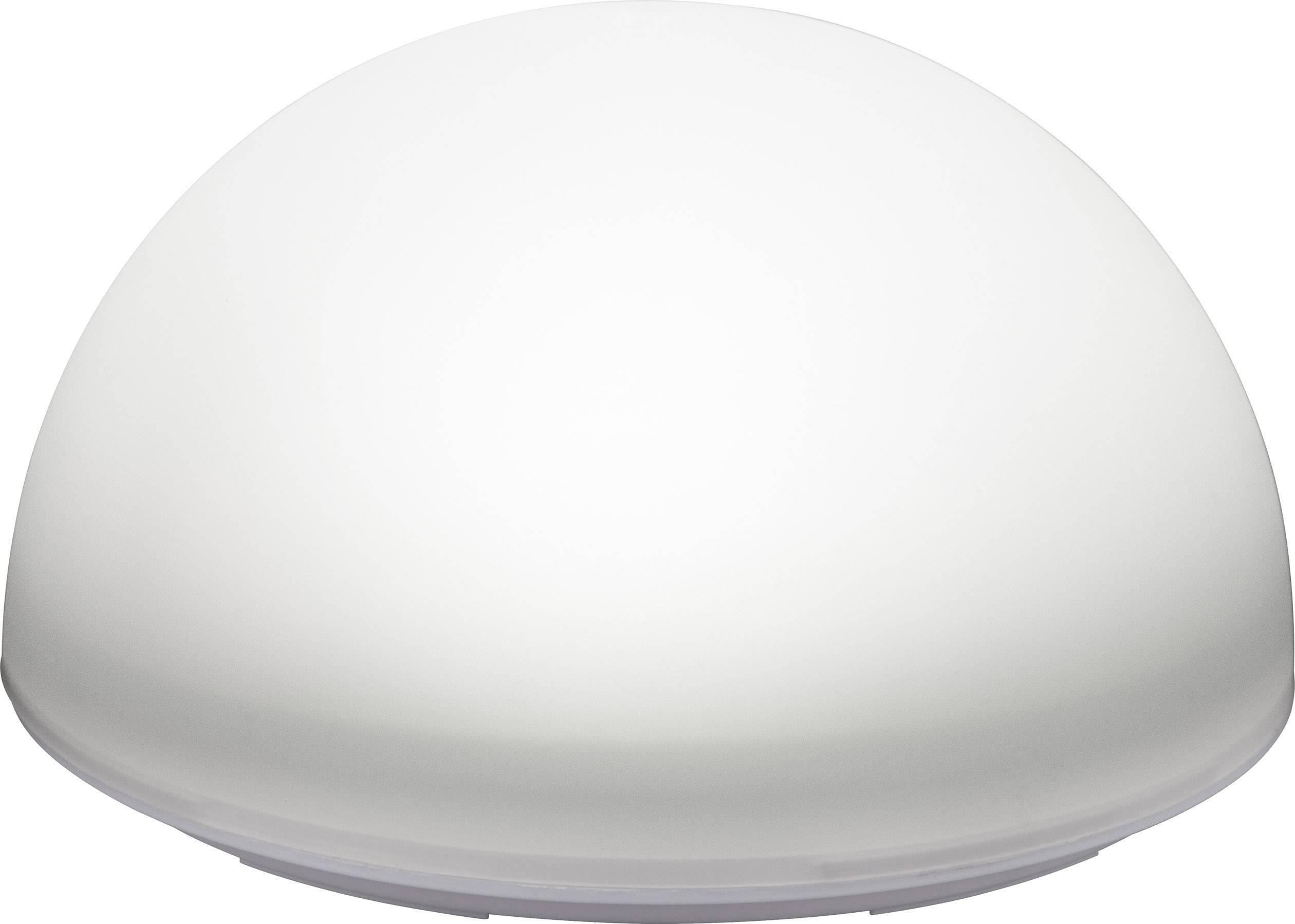LED solárne dekoračné osvetlenie pologuľa Polarlite 0.5 W, IP55, biela, RGBW