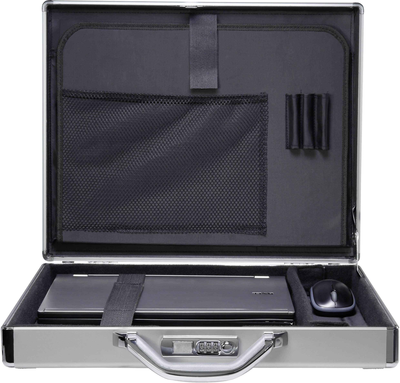 """Bezpečnostný kufrík na notebook Renkforce JJV-2003S s max.veľkosťou: 39,6 cm (15,6"""") , hliník"""