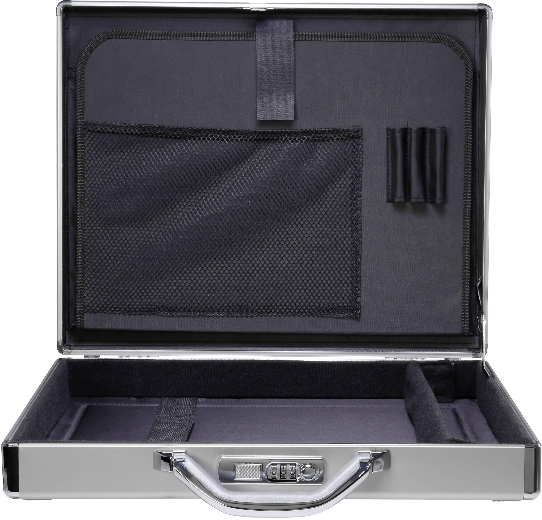 """Bezpečnostný kufrík na notebook Renkforce JJV-2004S s max.veľkosťou: 43,9 cm (17,3"""") , hliník"""