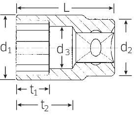 """Zásuvka, vonkajší šesťhran Stahlwille 50 13 03010013, 1/2"""" (12.5 mm), 13 mm"""