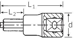 """Nástrčný kľúč, vnútorný šesťhran BO Stahlwille 54 IC 12 03070012, 1/2"""" (12.5 mm), 12 mm"""