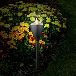 Solární zahradní svítidlo Polarlite Mataro ve tvaru pochodně, 0.25 W, černá, sada 5 ks