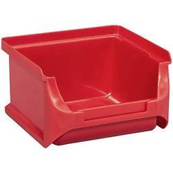 Plastový box na drobný materiál, stohovatelný Allit (š x v x h) 100 x 60 x 100 mm, červená