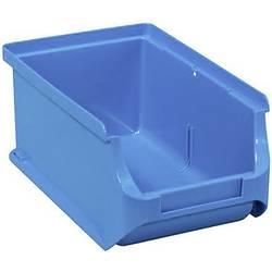 Plastový box na drobný materiál, stohovatelný Allit 456204, (š x v x h) 100 x 75 x 160 mm, modrá