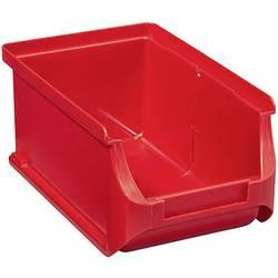 Plastový box na drobný materiál, stohovatelný Allit 456205, (š x v x h) 100 x 75 x 160 mm, červená