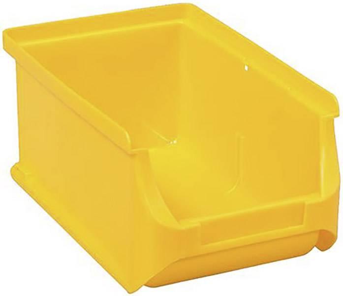 Plastový box na drobný materiál, stohovatelný Allit 456206, (š x v x h) 100 x 75 x 160 mm, žlutá