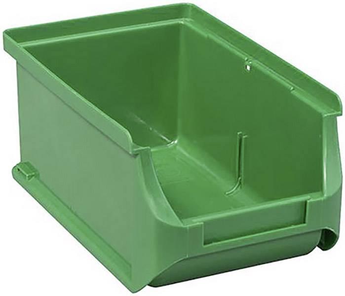 Plastový box na drobný materiál, stohovatelný Allit 456207, (š x v x h) 100 x 75 x 160 mm, zelená