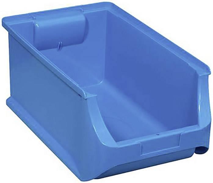 Plastový box na drobný materiál, stohovatelný Allit (š x v x h) 205 x 150 x 355 mm, modrá