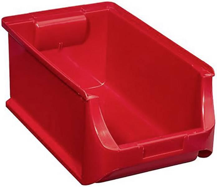 Plastový box na drobný materiál, stohovatelný Allit (š x v x h) 205 x 150 x 355 mm, červená