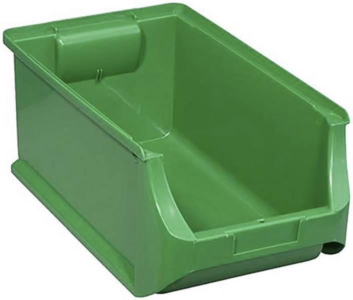 Plastový box na drobný materiál, stohovatelný Allit (š x v x h) 205 x 150 x 355 mm, zelená