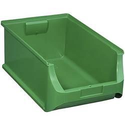 Plastový box na drobný materiál, stohovatelný Allit (š x v x h) 310 x 200 x 500 mm, zelená
