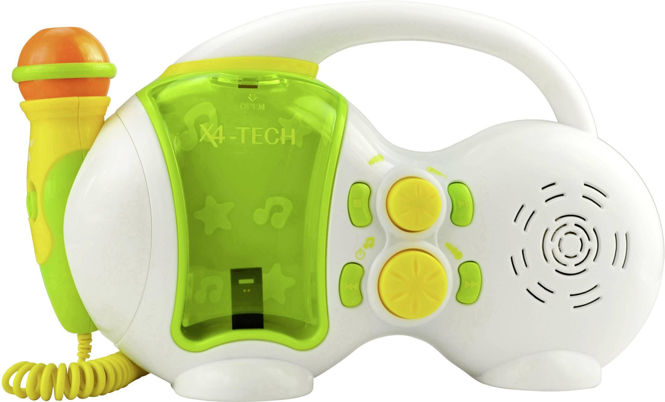 Karaoke vybavení X4 Tech Bobby Joey USB USB vč. karaoke, včetně mikrofonu, bílá, zelená
