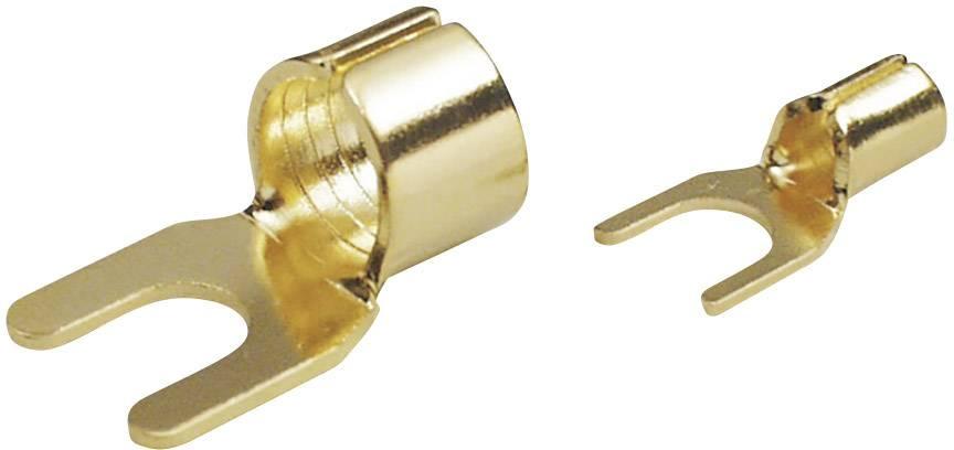 Vidlicové káblové oko TRU COMPONENTS 1577785, Ø otvoru 6 mm, zlatá, 1 ks