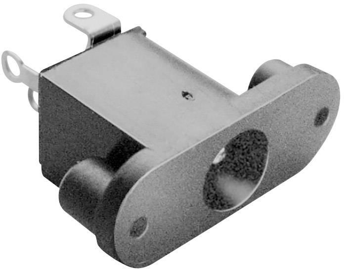 Nízkonapěťový konektor BKL Electronic 072779, zásuvka, vestavná vertikální, 6.3 mm, 2.5 mm, 1 ks