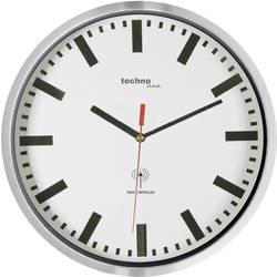DCF nástěnné hodiny Techno Line WT8990 WT8990, vnější Ø 30 cm, stříbrná (metalíza)