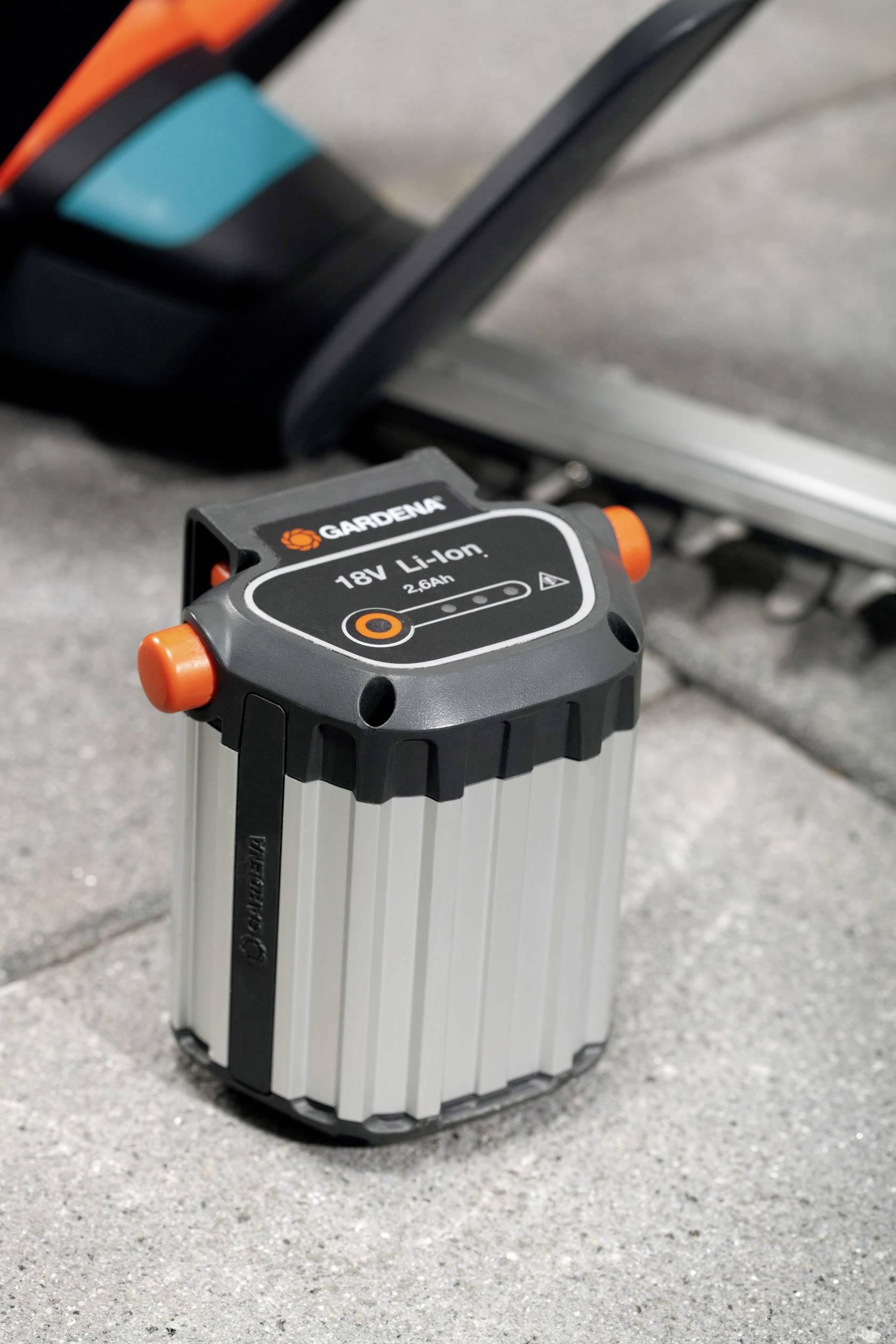 Náhradní akumulátor pro elektrické nářadí, GARDENA Akku BLi-18 09839-20, 18 V, 2.6 Ah, Li-Ion akumulátor