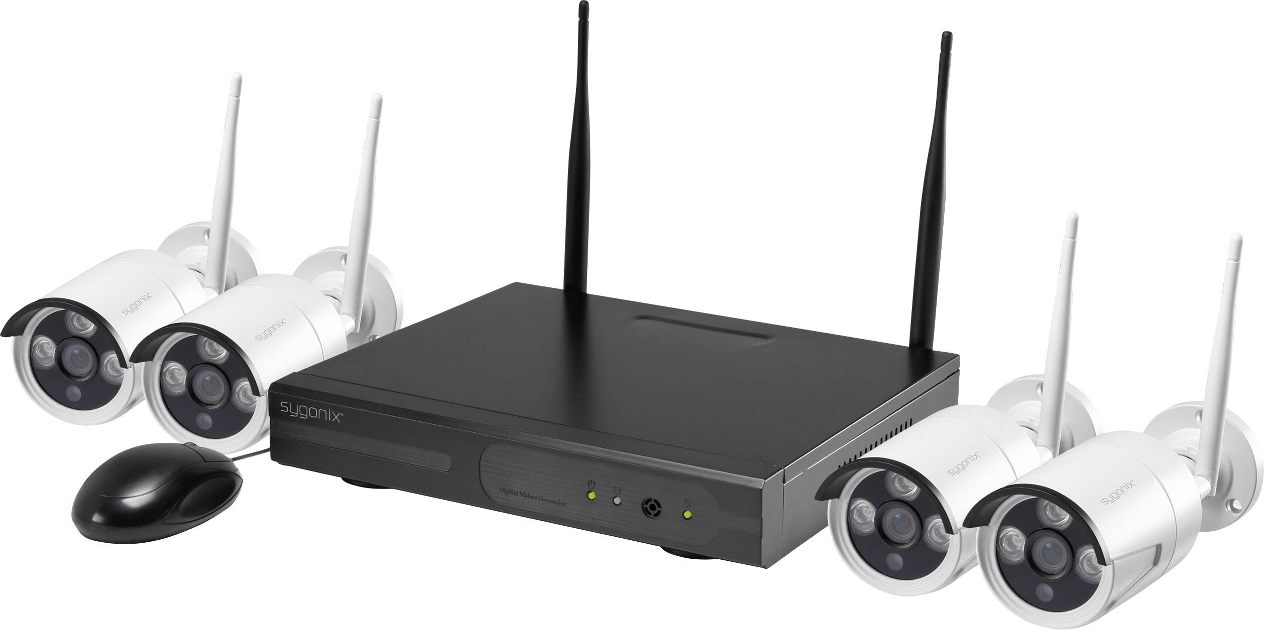 Sada 4 bezpečnostních kamer a digitálního rekordéru s Wi-Fi Sygonix 355791D1 / 1522017