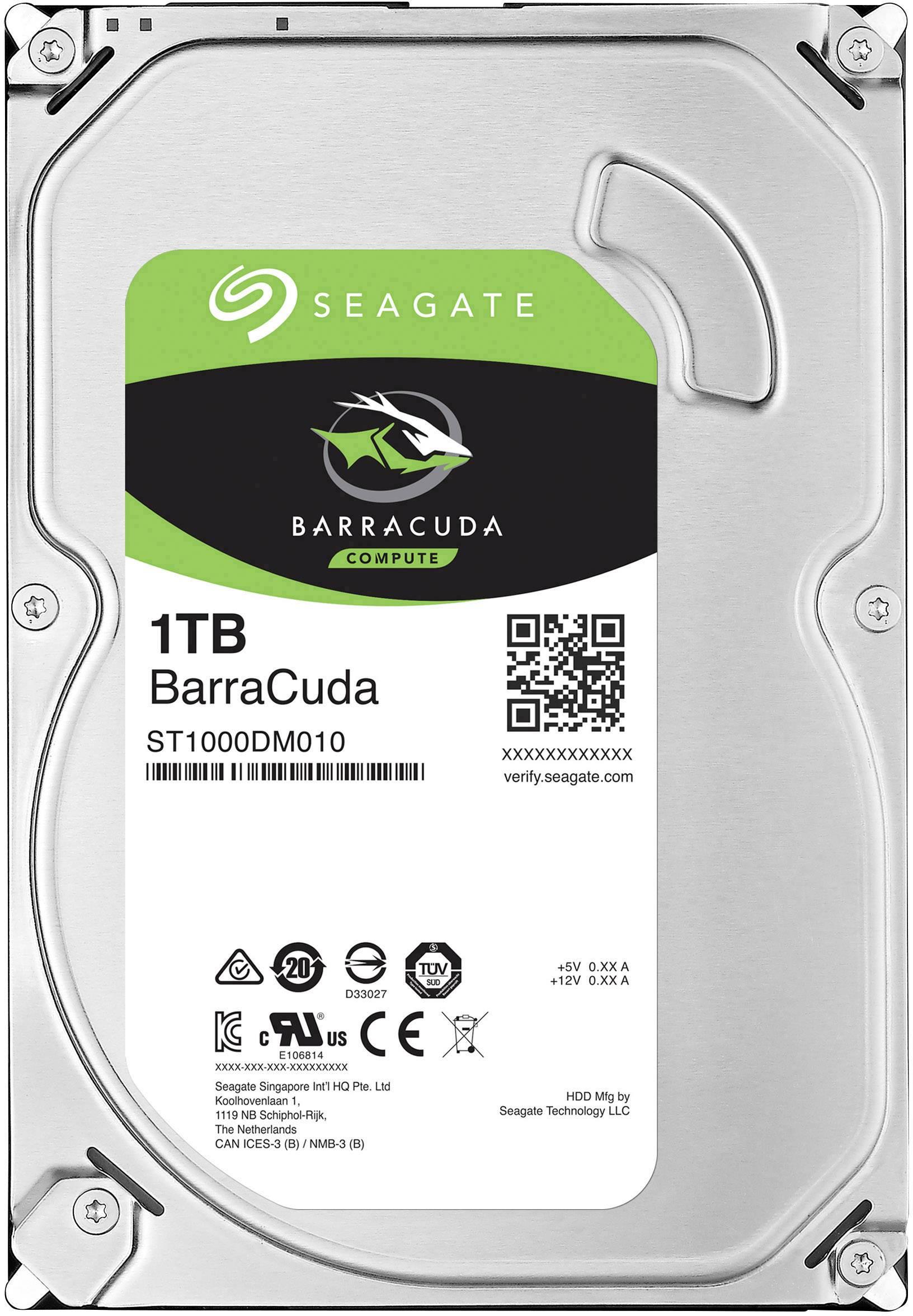 """Recertifikovaný interní pevný disk 8,9 cm (3,5"""") 1 TB Seagate BarraCuda® Bulk ST1000DM010-FR SATA III"""