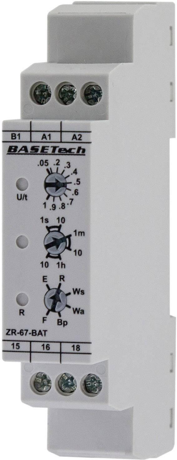 Multifunkčné časové relé Basetech ZR-67-BAT, čas.rozsah: 0.05 s - 10 h, 1 prepínací