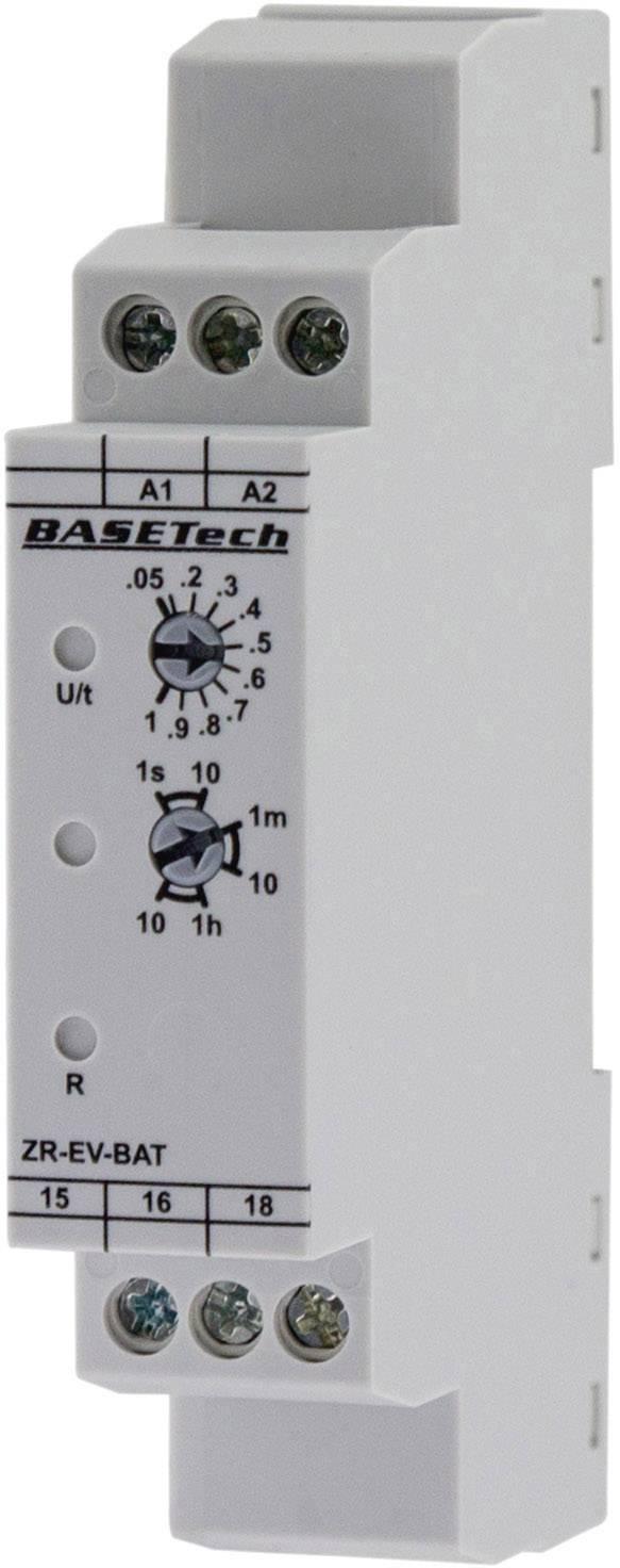 Monofunkčné časové relé Basetech ZR-EV-BAT, čas.rozsah: 0.05 s - 10 h, 1 prepínací